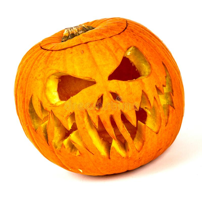 Real jack o lantern for halloween stock images
