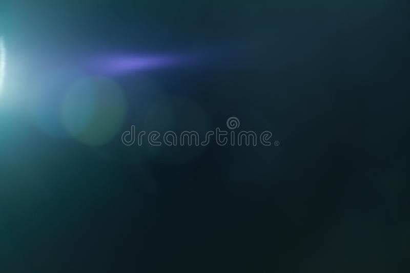 Real Lens flare light effect. Ray leak royalty free stock photography