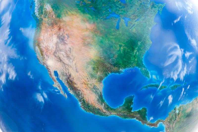 Real looking Earth map. North America in the center. Globe is accurate and right royalty free stock photography