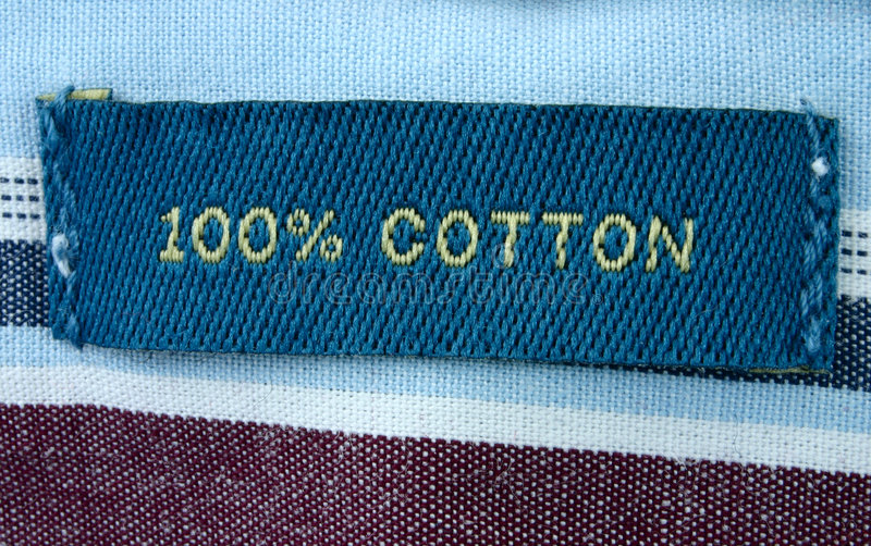 Real macro of clothing label stock image