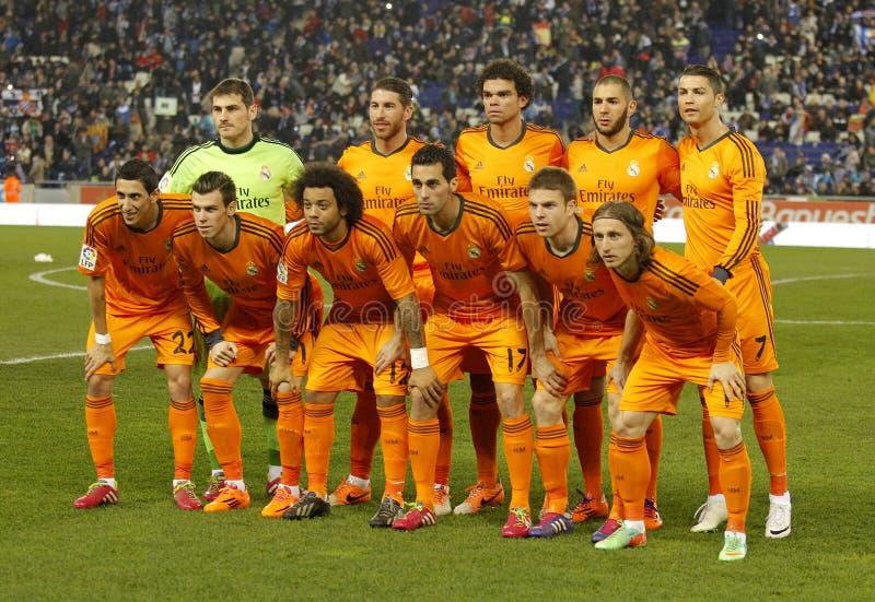 Real Madrid-Aufstellung stockfoto
