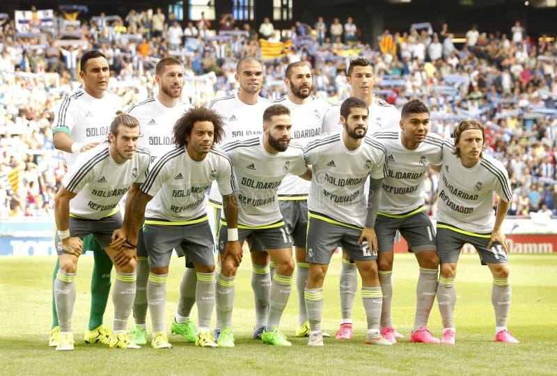 Real Madrid-Aufstellung lizenzfreies stockfoto