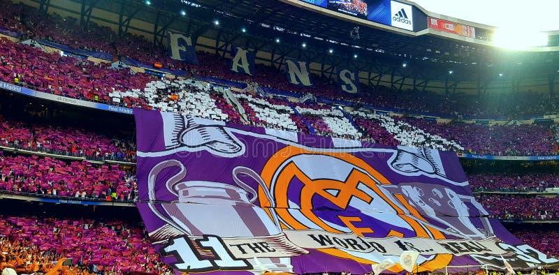 REAL MADRID champions league SANTIAGO BERNABEU zdjęcia royalty free