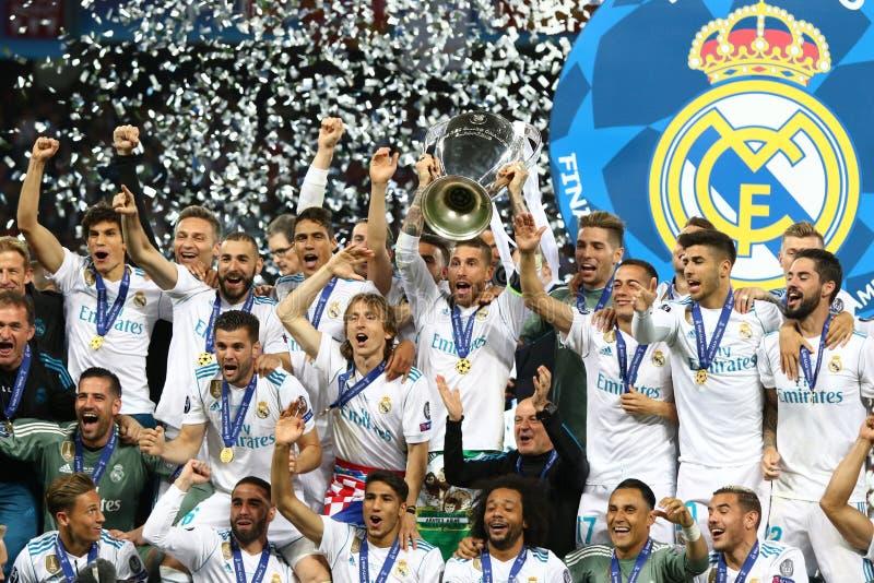 Real Madrid 2018 di finale della lega di campioni di UEFA v Liverpool, Kiev, immagine stock