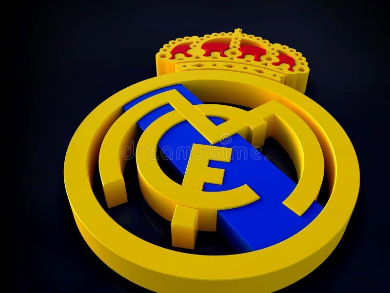 Real Madrid futbolu klubu logo 3D perspektywa