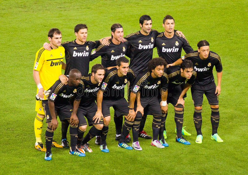 Real Madrid-Spieler lizenzfreies stockfoto