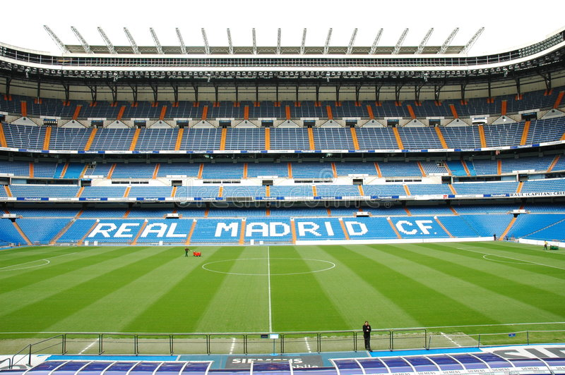 Real Madrid Stadium royalty free stock photos