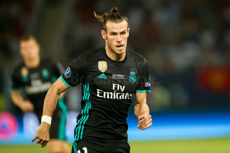 REAL MADRID V MANCHESTER UNITED: UEFA SUPER filiżanka fotografia royalty free