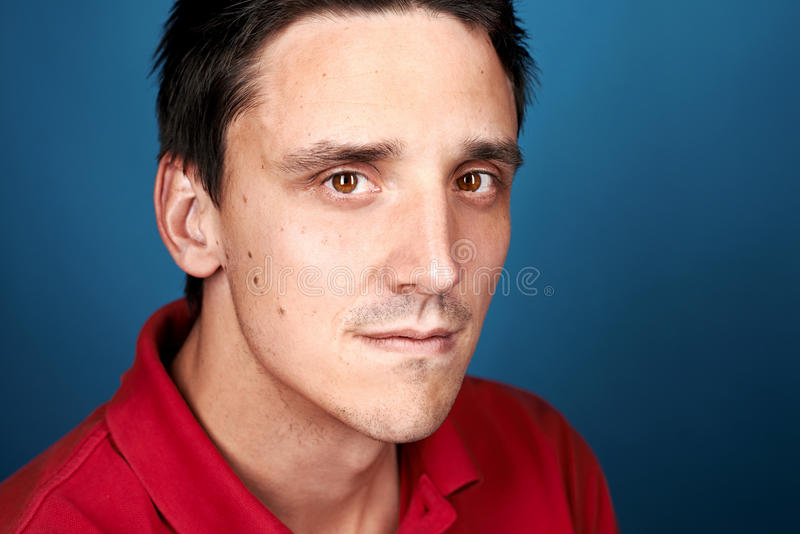 Real man face stock images