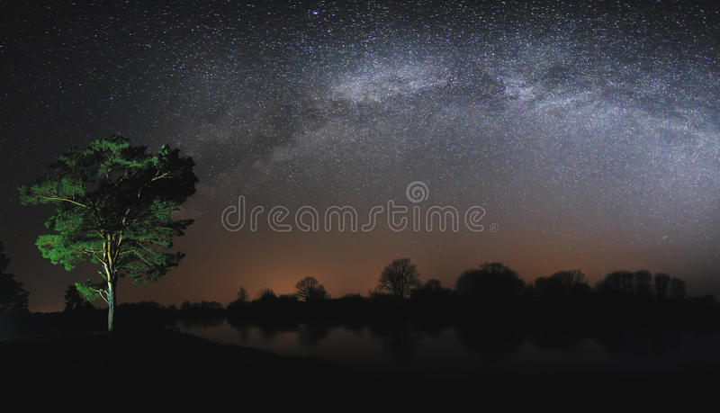 Real Milky Way in sky royalty free stock photography