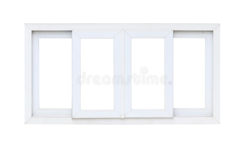 Real modern house window frame isolated on white. Background royalty free stock photography