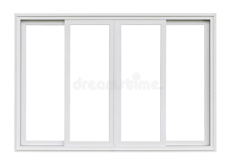 Real modern house window frame isolated on white. Background royalty free stock photos