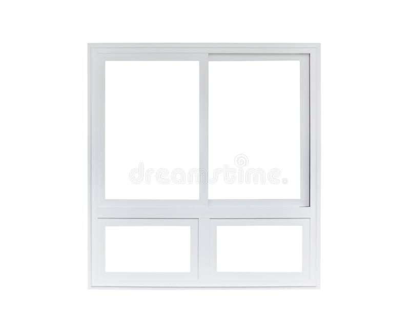 Real modern house window frame isolated on white. Background royalty free stock images
