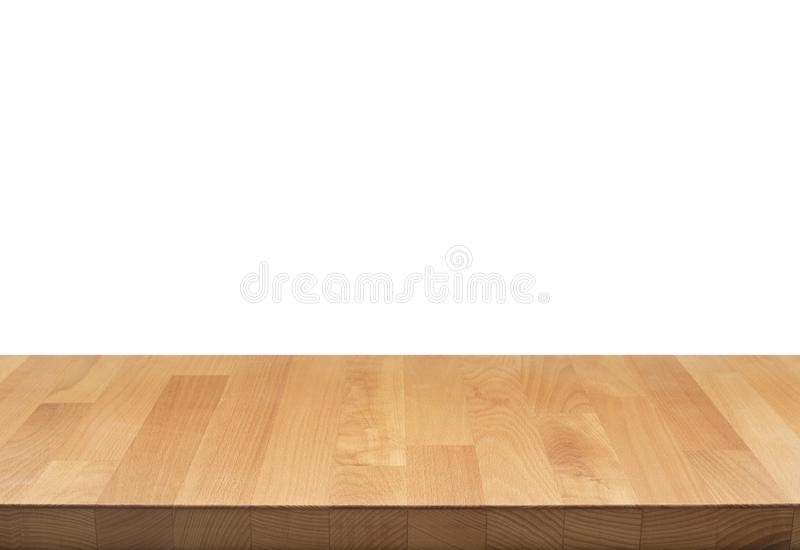 Real nature wood table top texture on white background. stock images