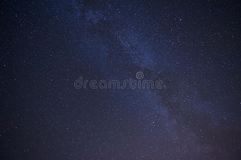 Real night sky with stars stock image