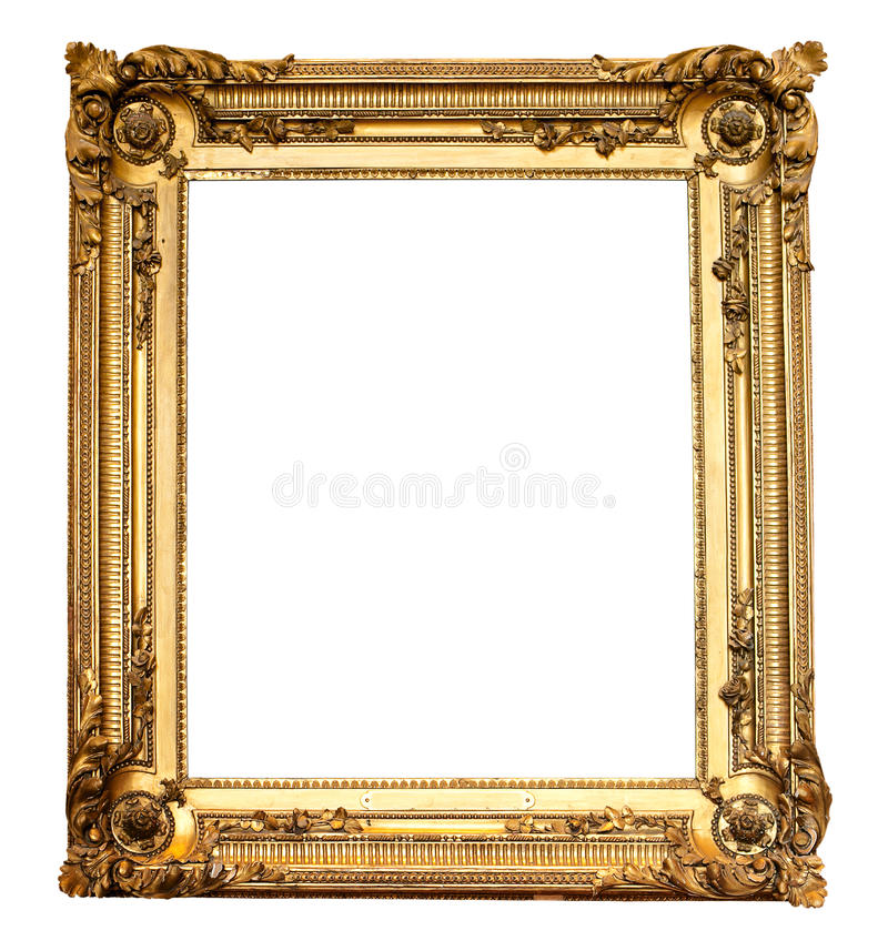 Download Real Old Antique Gold Frame Isolated Stock Photo - Image: 21604786