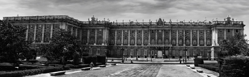 Real Palace Madrid stock photo
