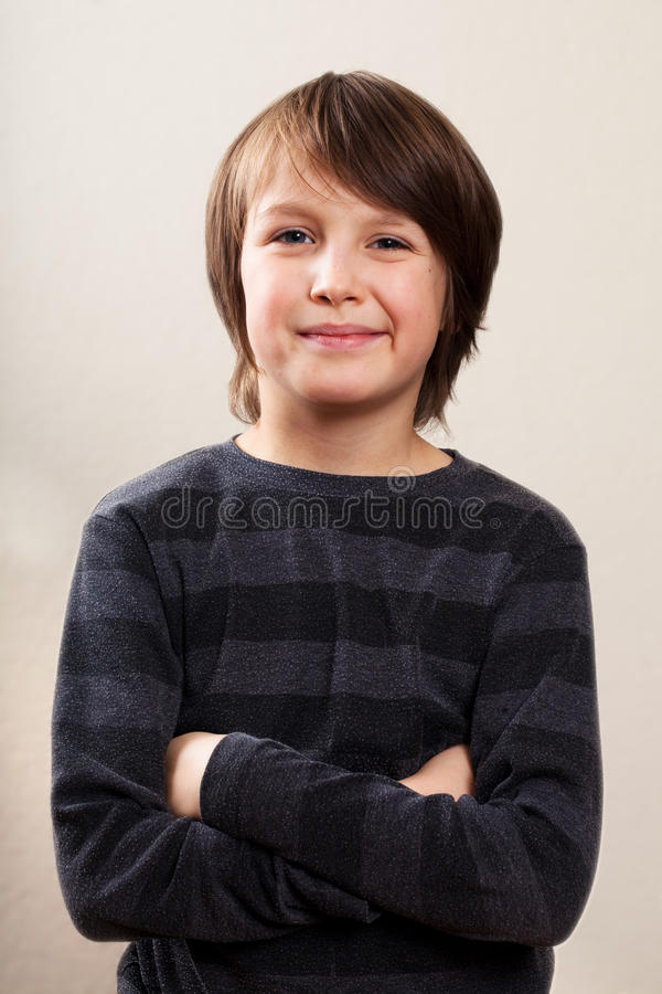Real People Portrait: Waist Up, Pre-Teen Boy royalty free stock images