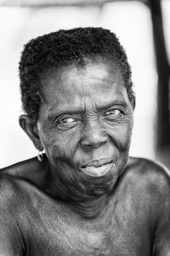 Real people in Togo (Black and white) royalty free stock images