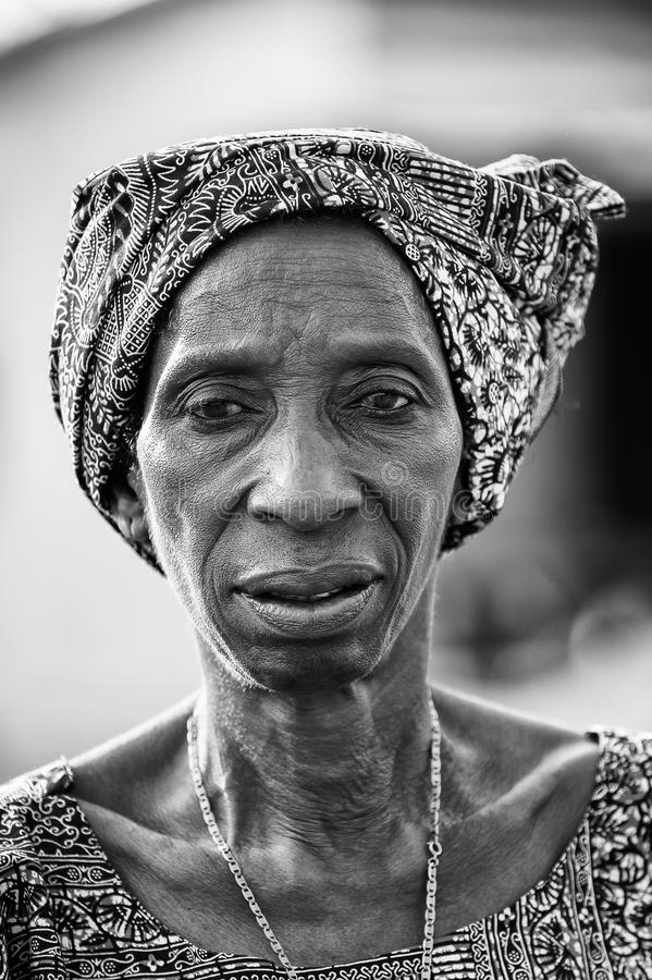 Real People In Togo, In Black And White Editorial
