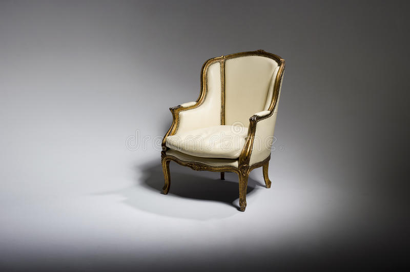 Real photo of classic armchair royalty free stock photo
