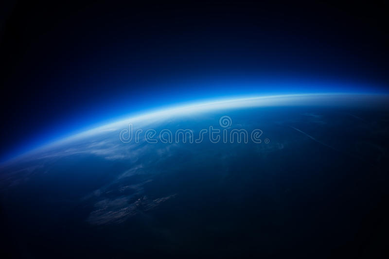 Real Photo - Near Space photography - 20km above ground vector illustration