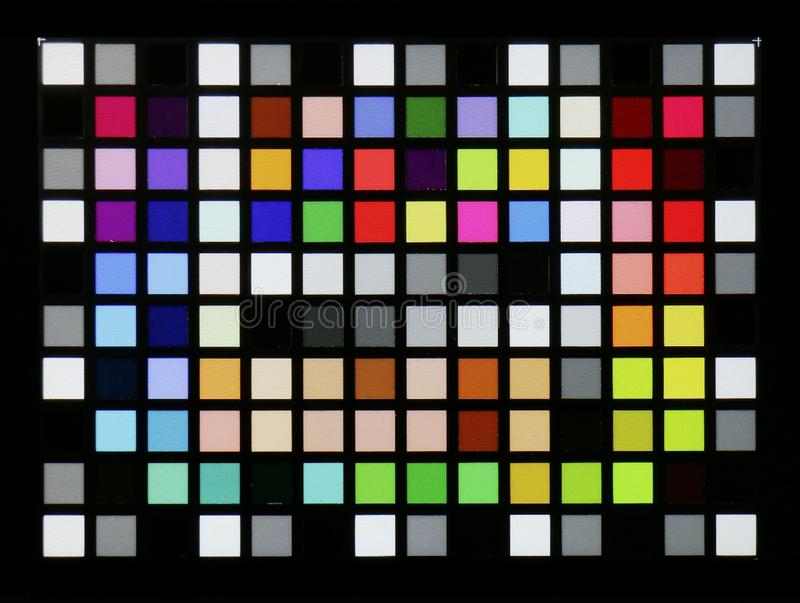 Real photo of standard industrial color checker target stock illustration
