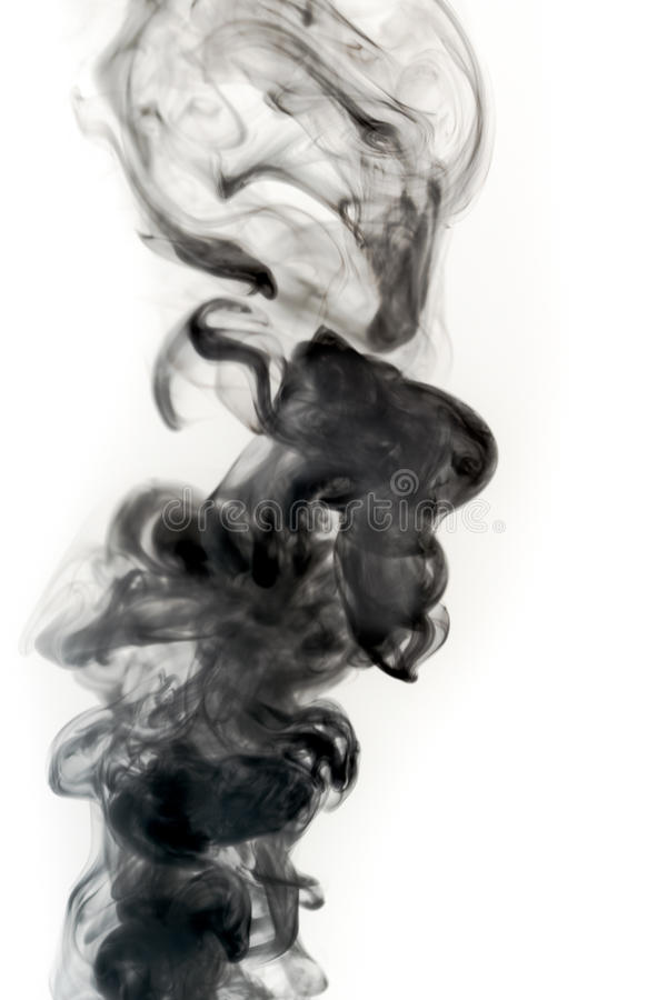 Real Smoke On A White Background Royalty Free Stock Images