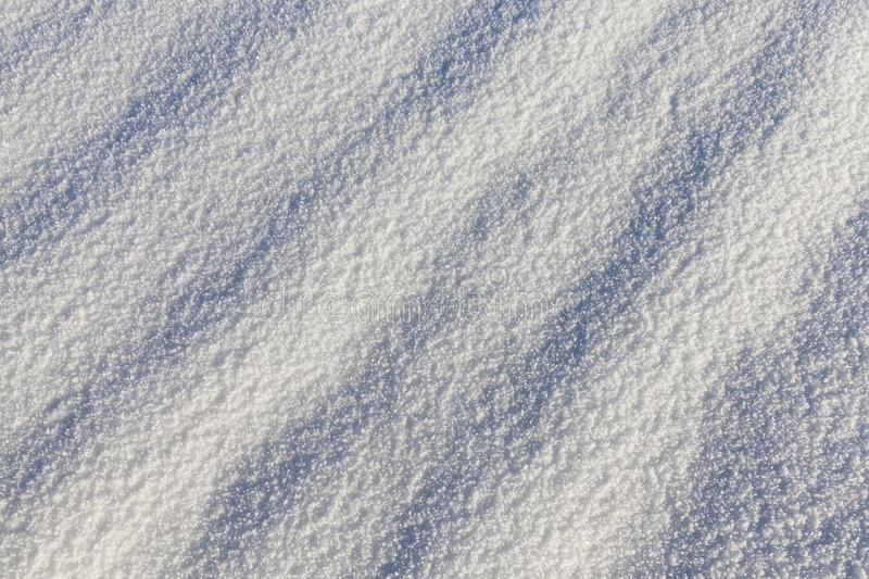 Real snow surface stock photo