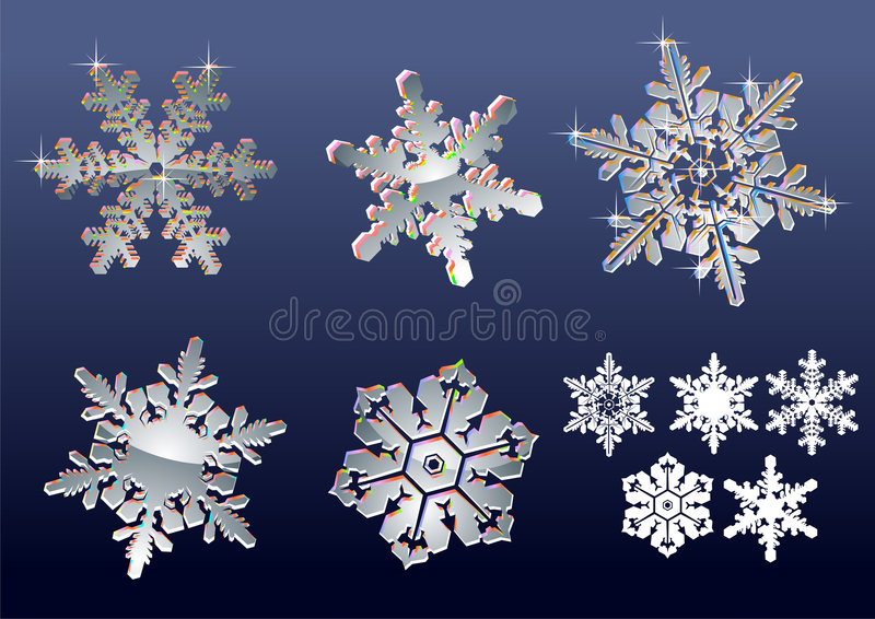 Real snowflakes royalty free stock images