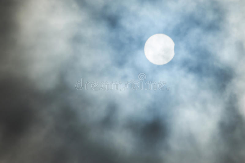 Real solar eclipse background stock photos