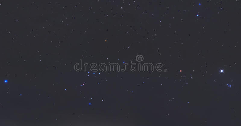 Real stars at night stock images