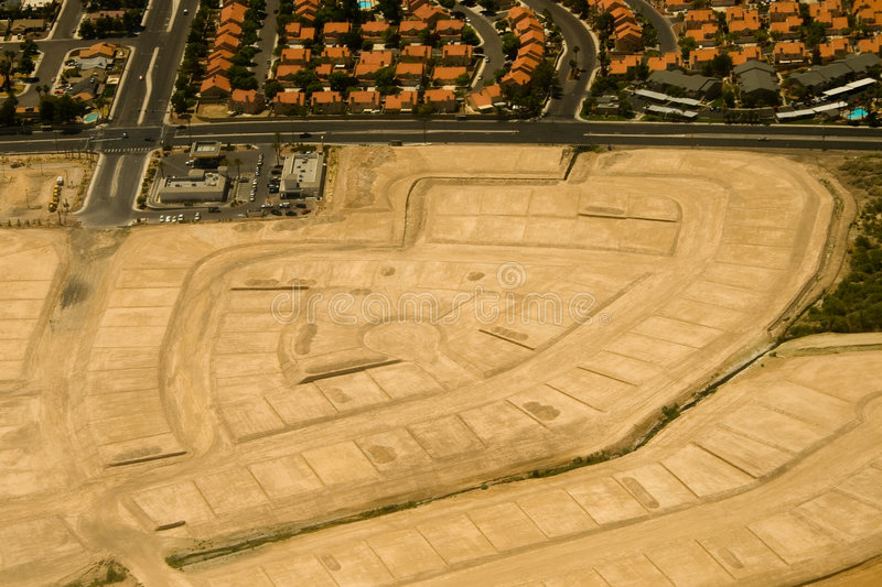 Aerial view of construction site stock image