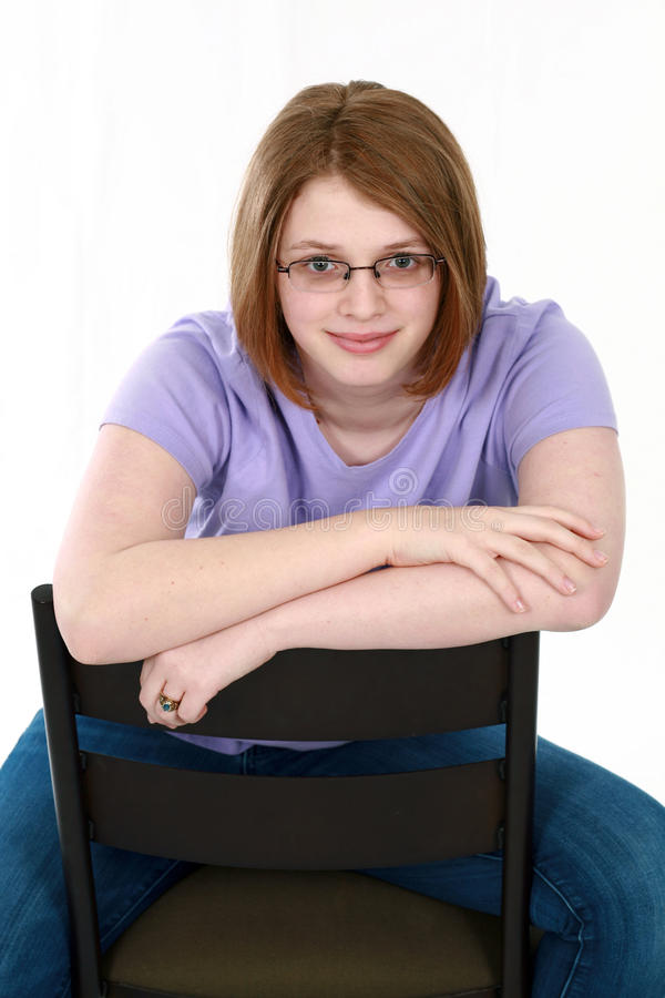 Real Teen Girl In Glasses Stock Photo. Image Of Cute