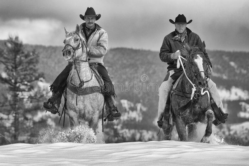 Real time cowboys royalty free stock image