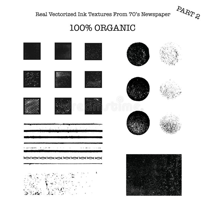 Free Real Vectorized Black Traced Ink Textures From 70 S Newspaper 2 Stock Photo - 44349330