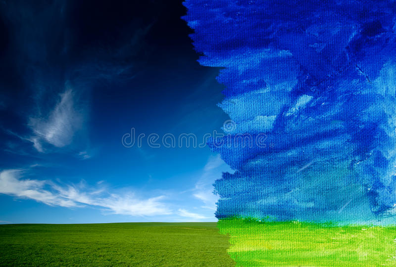 Real And Watercolor Royalty Free Stock Images