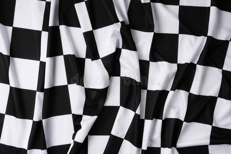 Real Waving Checkered Flag Stock Image