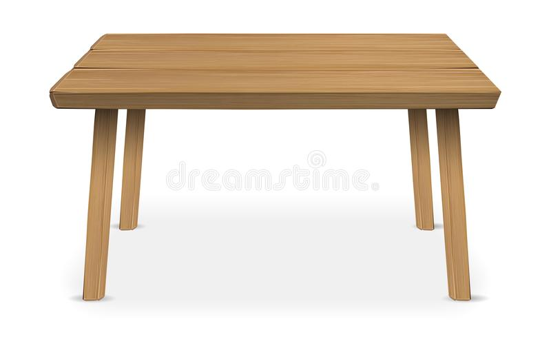 Real wood table on a white background royalty free stock photos