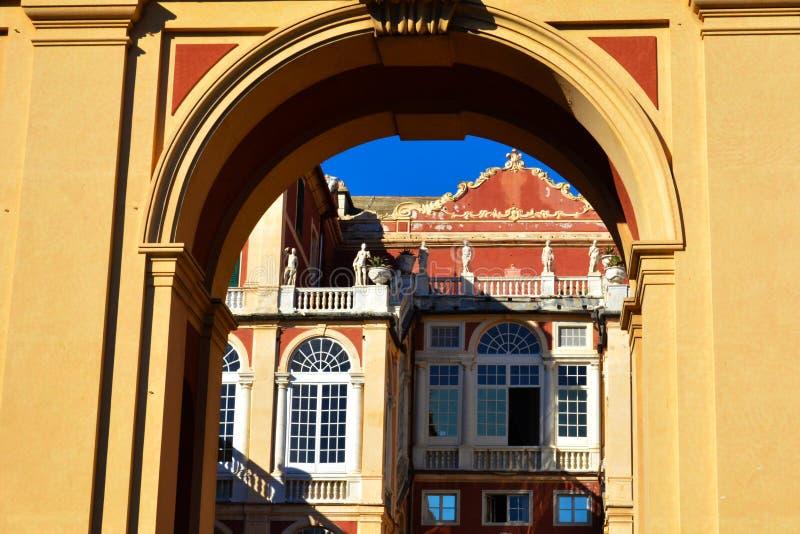 Reale de Palazzo del palacio real de Génova, Génova, Italia fotos de archivo