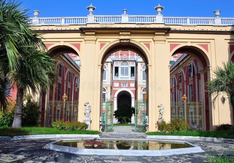 Reale di Palazzo, Genova Italia fotografie stock libere da diritti
