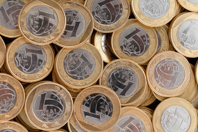 Reale Münzen lizenzfreies stockfoto