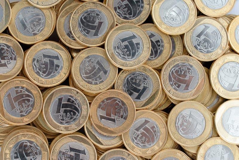 Reale Münzen stockfotografie