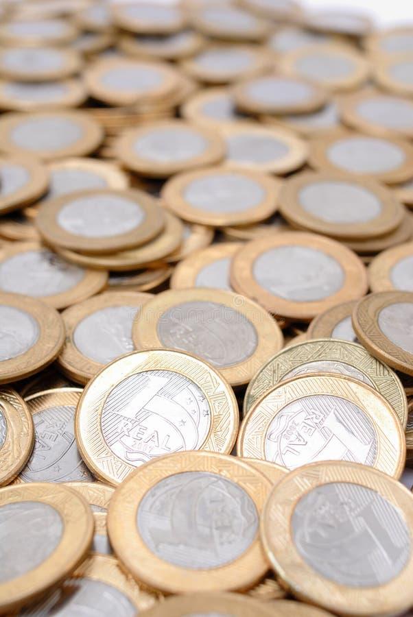 Reale Münzen stockfotos