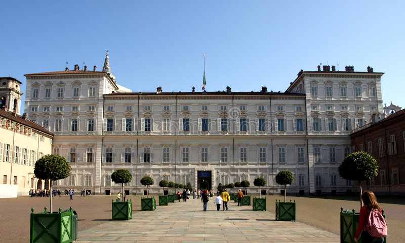 reale turin palazzo стоковое фото