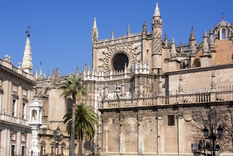 Realer Alcazar in Sevilla stockbilder