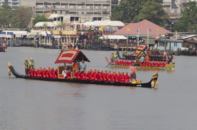 Reales Tailandeses Barge Adentro Bangkok Imagen de archivo editorial