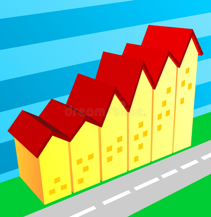 Realestate Market Growth Stock Photos