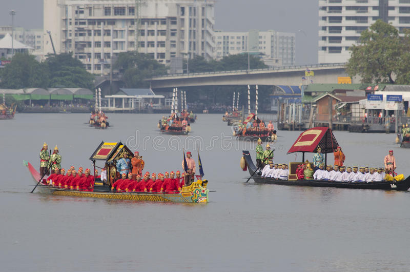 Reali Tailandesi Barge Dentro Bangkok Fotografia Stock Editoriale