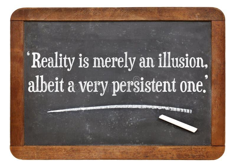 Realidad como cita de la ilusión imagen de archivo libre de regalías